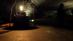 Mammoth Cave National Park Underground Cavern Lantern UHD Stock Footage