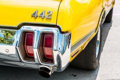 Oldsmobile 442 Rear Emblem - stock photo