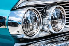 Ford Galaxie 500 Headlamp - stock photo