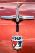 Ford Customline Emblem Hood Ornament Front - stock photo