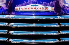 Chevrolet Advance Design Front Emblem Grill Stock Photos
