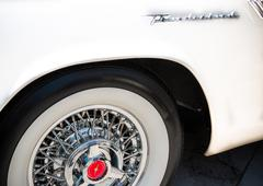 Ford Thunderbird Emblem and Whitewall Tire Stock Photos