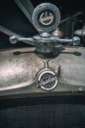 Studebaker Front Emblem and Hood Ornament - stock photo