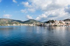Poros island panorama, greece Stock Photos