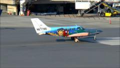Cape Airways shark plane Stock Footage