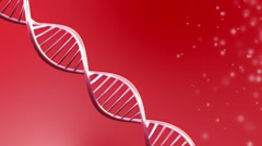 Looping animated dna molecule - stock footage
