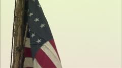 Stock Video Footage of Civil War union flag