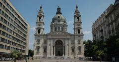 4K video of Saint Stephens Basilica in Budapest, Hungary Stock Footage