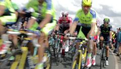 Tour De France Peloton 2015 - Yorkshire, UK Stock Footage