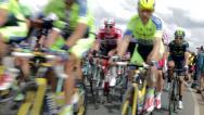 Stock Video Footage of Tour De France Peloton 2015 - Yorkshire, UK