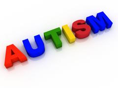 Stock Illustration of autism word background hope research
