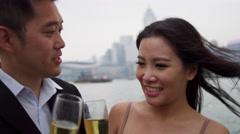 Ethnic Male Female Couple Enjoying Corporate Rewards - stock footage