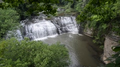 Middle Falls, Burgess Falls State Park, Tennessee 1080/30 17s Stock Footage