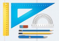 Education supply illustration - stock illustration