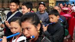 Preparing to celebrate the New Year, Kathmandu, Nepal Stock Footage