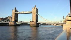 Great view on Tower Bridge London Stock Footage