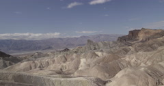 4K time lapse looking out over Zabriskie Point in Death Valley, USA Stock Footage