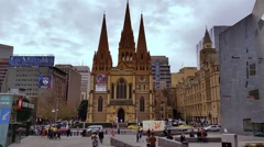 Stock Video Footage of Melbourne City Victoria Australia
