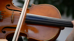 Violins in action on a concert Stock Footage