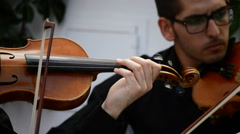 Playing violin - stock footage