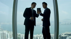 Asian Chinese Businessmen Skyscraper Office Meeting Stock Footage