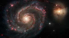 Spiral Galaxy in Outer Space Stock Footage