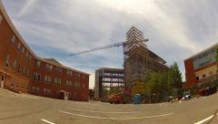 Rolling Toward New Bldg. Construction- Northern Arizona University - stock footage