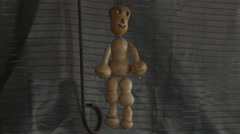 WOODEN FIGURE TOY - stock footage
