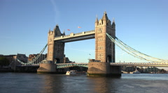 London Tower Bridge in the evening Stock Footage