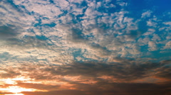 Very beautiful sunset with fast running clouds, timelapse  Stock Footage