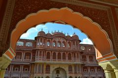 City Palace in Jaipur, Rajasthan, India Stock Photos