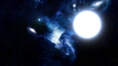 Beautiful Blue Galaxy in Outer Space Stock Footage