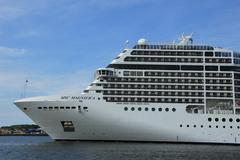velsen, the netherlands, july 7th, 2014 : msc magnifica - stock photo
