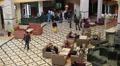 Lobby of three star hotel in Monastir, Tunisia HD Footage