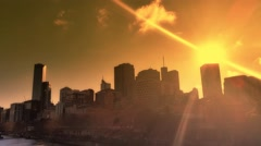 Melbourne City Victoria Australia - Sunset Stock Footage