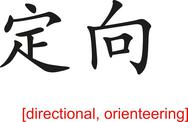 Stock Illustration of Chinese Sign for directional, orienteering
