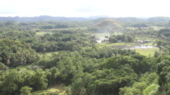 Rice Paddie in the Chocolate Hills in Bohol - stock footage