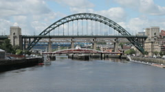 The Tyne Bridge, Newcastle, England Stock Footage