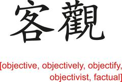 Stock Illustration of Chinese Sign for objective, objectively, objectify, factual
