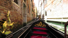 Gondola ride through the canals of Venice Stock Footage