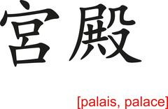 Chinese Sign for palais, palace Stock Illustration