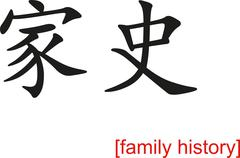 Stock Illustration of Chinese Sign for family history