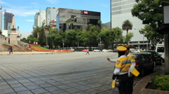 Mexico city avenues Stock Footage