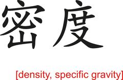 Chinese Sign for density, specific gravity - stock illustration