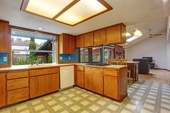 kitchen room in old house - stock photo