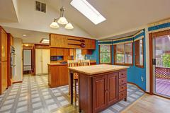 contrast colors kitchen room - stock photo