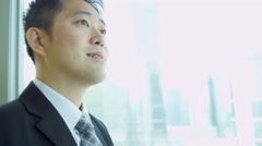 Asian Chinese Male Financial Consultant Close Up Stock Footage