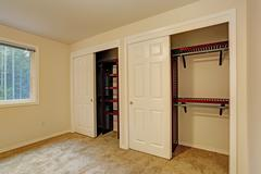 view of closet in bedroom - stock photo