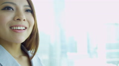 Portrait Female Asian Chinese Business Advisor Stock Footage