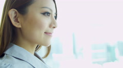 Close Up Female Asian Chinese Finance Consultant - stock footage